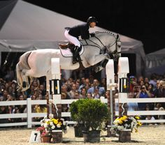 McLain Ward and Antares are such a perfect team. Flawless jump. Look at McLain's leg position. Antares' knees and tuck are drool worthy.