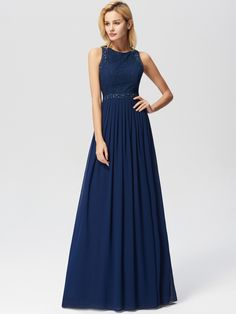 Ever-Pretty Womens Elegant Lace Sleeveless Floor Length Formal Evening Prom Ball Gown Party Gala Dresses for Women 07391 US 4 Lace Bridesmaids, Long Bridesmaid Dresses, Prom Party Dresses, Gala Dresses, Prom Gowns, A Line Evening Dress, Chiffon Evening Dresses, Lace Chiffon, Lace Maxi