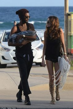Family day out: Nicole Trunfio and Gary Clark Jr. enjoyed some quality time with their bab. Gary Clark Jr, Stevie Ray Vaughan, New Inventions, Famous Couples, Fashion Couple, Yesterday And Today, Eric Clapton, Partners In Crime, Jimi Hendrix