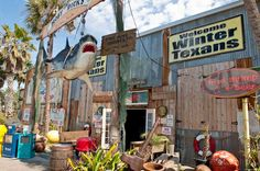 Moby Dick's  You have to go at least once.  Breakfast/brunch is best.  Port Aransas
