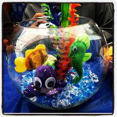 Jacks baby shower center piece. Under the sea theme