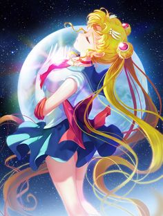 Find images and videos about anime, moon and sailor moon on We Heart It - the app to get lost in what you love. Sailor Moons, Sailor Moon Crystal, Sailor Moon Usagi, Sailor Moon Fan Art, Sailor Moon Personajes, Sailor Moon Wallpaper, Images Gif, Bing Images, Princess Serenity