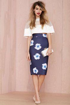 Instant Karma Neoprene Midi Skirt - Skirts | Scuba