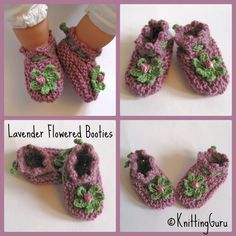 Knitted & Crocheted Wool Baby Booties