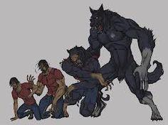 werewolf transformation...or in HV language, the beast transformation.