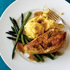 A former personal chef, Wendy Collett discovered ways to create tasty meals using fresh ingredients. Adding fresh asparagus and creamy polenta makes an easy and elegant dinner for company.