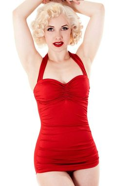 50's swimwear! I love it!! I actually have one just like this! real swimsuit