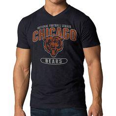 Men's '47 Brand Chicago Bears JV V-Neck Scrum T-Shirt - NFLShop.com