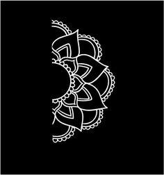 Half Mandala Sunflower Decal Custom Vinyl by CustomVinylDecals4U #mandala…