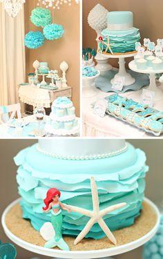 Mermaid Birthday Cake for The Tomkat Studio |  TheCakeBlog.com