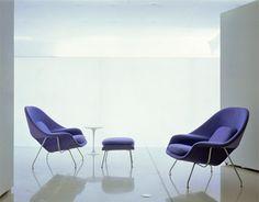 Eero Saarinen, 1948 Womb Chair & Ottoman. for every home...$4250