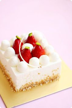 Strawberry Shortcake. Use your recipe & design this way. So pretty.