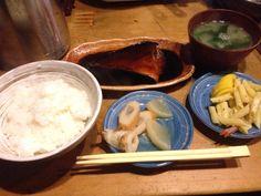 鯖煮込み定食( ̄(エ) ̄)v