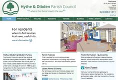 New website for Parish Council Hythe by Focal Strategy