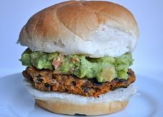 Makes my mouth water. Guacamole Veggie burger