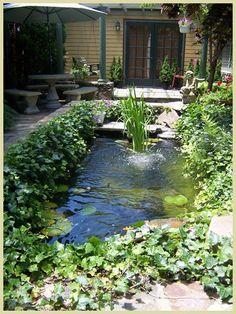 Koi pond at The Victorian Ladies - Newport, RI