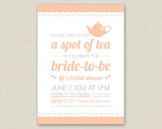 a spot of tea for the bride to be!