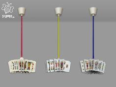 Lampade a sospensione con carte da gioco - #lampadario #recycle #upcycle #cartedagioco #riciclocreativo - #soreadystyle - di So.Ready Lab - soreadylab.etsy.com