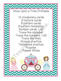 Once Upon a Time Printable 2.50