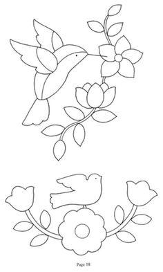 Gallery.ru / Фото #14 - 377 - Yra3raza Applique Quilts, Wool Applique, Embroidery Applique, Machine Embroidery, Embroidery Stitches, Embroidery Patterns, Flower Applique Patterns, Beginner Embroidery, Hand Embroidery Designs
