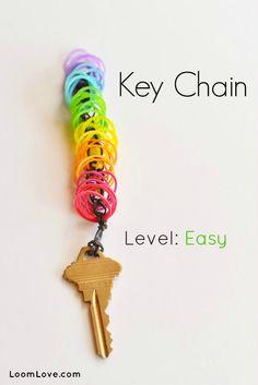 Rainbow Loom® Sleutelhanger - http://www.rainbow-loom.nl/rainbow-loom-videos-voorbeelden/rainbow-loom-sleutelhanger/
