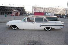 Slammed Chevy Wagon #ratrod on the 2012 #HRPT