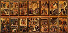 Duccio di Buoninsegna,reverso de la Maestà de Siena. Museo de la Catedral de Siena. 1308-1311. - Pintura Italiana SS.XIII-XIV. El Trecento. La escuela de Siena. -19