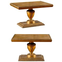 Pair of Hollywood Regency Gold Leaf Side Tables | From a unique collection of antique and modern side tables at https://www.1stdibs.com/furniture/tables/side-tables/