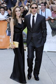 Actor Brad Pitt and actress Angelina Jolie attends a gala screening for the film ''Moneyball' during the Toronto International Film Festival in Toronto.
