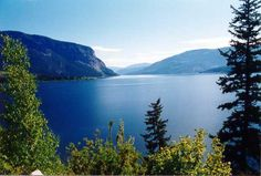 Shuswap Lake, BC Canada.  The Shuswap is home to quite a few communities and one of the largest lakes in BC.  It's fed by Adams Lake which is much higher up in the mountains, and even in Summer by my standards the water is pretty damn cold!  It's breathtakingly beautiful though and was my first lakeside experience in Canada when I holidayed there over 15 years ago.