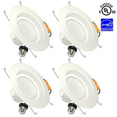 SGL 6 Inch Dimmable LED 13W Recessed Downlight (4 Pack) $34 - http://www.gadgetar.com/sgl-6-inch-dimmable-led-13w-recessed-downlight-4-pack/