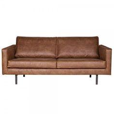 2,5 Sitzer Sofa RODEO Echtleder Leder Lounge Couch Garnitur cognac