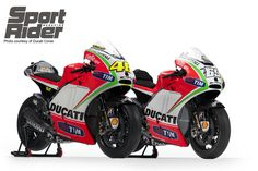 Valentino Rossi and Nicky Hayden's Ducati Desmosedici GP12