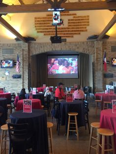 The Frazier is open and we have the #OUvsTEX game on the big screen. Great place to watch all the morning games!