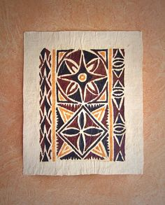 Small Siapo in new condition.play on traditional star and flower motif.Dimensions: 400mm x 330 mm.