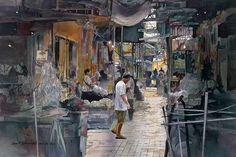 """""""Flower Market, Bangkok"""" John Salminen"""