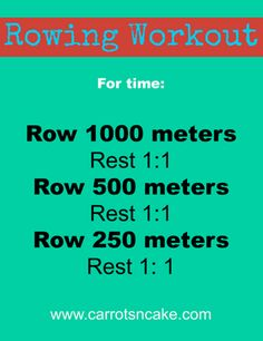 @Allyse Dempsey I just joined a gym with an erg...thinking about trying this workout - rest 1:1 means rest for the amount of time it took you to complete the distance (i.e. if it took 4 mins to do 1000 meters, then you would rest 4 mins before doing the next distance)