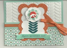Mothers Day for Shannon by - Cards and Paper Crafts at Splitcoaststampers Mothers Day Cards, Happy Mothers Day, Madison Avenue, So Creative, Some Ideas, Embossing Folder, Stampin Up Cards, Verses, To My Daughter