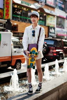 On the street. Vans Fashion, Vans Style, Sora, Busan, Korean Fashion, Fashion Photography, Street Style, Girls, How To Wear