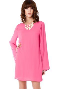 ShopSosie Style : Maura Shift Dress in Magenta