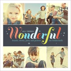All Things Wonderful Holiday Card