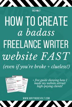 Want to set up a freelance writer website? Not sure of how to create a freelance writing portfolio? This in-depth post has all the steps to help you get it done FAST and make a site that SELLS! Online Writing Jobs, Freelance Writing Jobs, Freelance Online, Make Money Writing, How To Make Money, Writing A Book, Writing Tips, Blog Writing, Writing Prompts