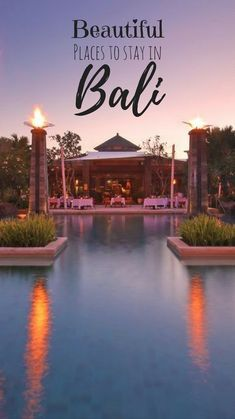 Here's a list of some of the most beautiful places to stay in Bali for every budget. #Bali #Indonesia