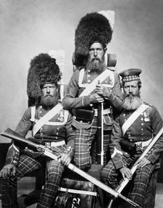 Soldiers from the 72nd Highlanders during the Crimean War - 1854-'56