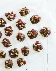 Dark Chocolate Pistachio Cranberry Clusters | a Couple Cooks