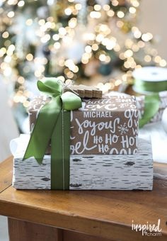 Christmas Gift Wrapping Ideas - Personalized Holiday Gift Wrap Ideas | inspiredbycharm.com