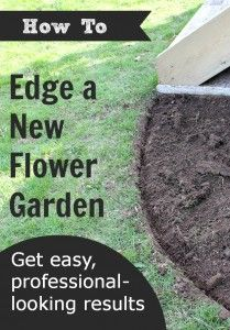 How to edge a flower garden and get easy, professional results!