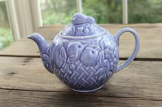 Beautiful Wade blue teapot from Southern Vintage rental