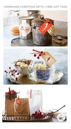 Hallmark stylist Andy Newcom gives us seven sensational wrapping ideas for homemade holiday gifts. From using flea-market finds to gussying up old jelly jars, these DIY gift presentation ideas are inexpensive, easy, and show-stopping. Creative Gift Wrapping, Creative Gifts, Wrapping Ideas, All Things Christmas, Christmas Holidays, Christmas Decorations, Xmas, Homemade Christmas Gifts, Homemade Gifts