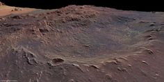 [June 20, 2012] ExploreMars Picture of the Day:  Eberswalde Crater, situated in an ancient river delta, 24 degrees south of the Martian equator at an elevation of -1,450 meters  or -4757' below Mars  zero-elevation point.